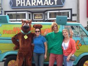 Jenn & I with Scooby and Shaggy!
