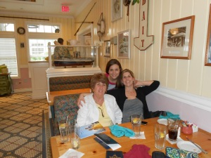 Jenn, Wanda & I enjoying our first meal on vacation!