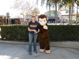 Me with Curious George at Universal
